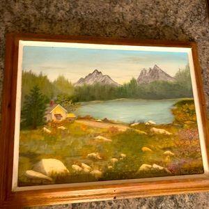 "Vintage original art painting Signed ""Paul Arnold"""
